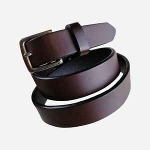 Coach Women's Brown Leather Belt Solid Brass